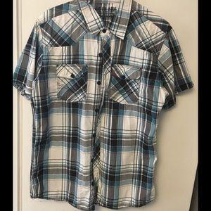 Men's Reclaim standard fit button down shirt L